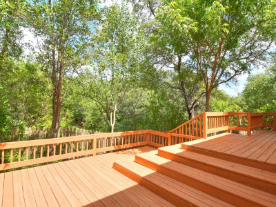 Backyard Deck with Greenbelt View
